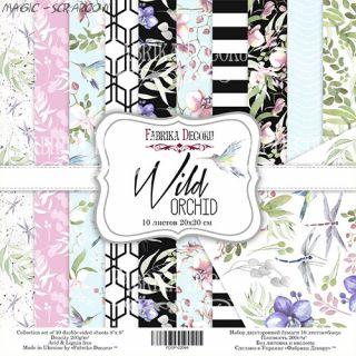 "Набор скрап бумаги ""Wild orchid"" 20*20 см FD"