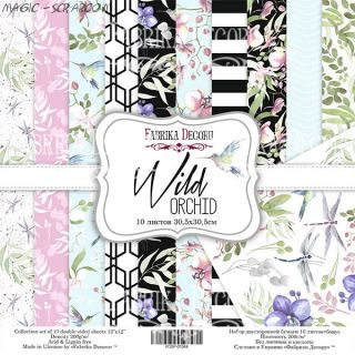 "Набор скрап бумаги ""Wild orchid"" 30,5*30,5 см FD"