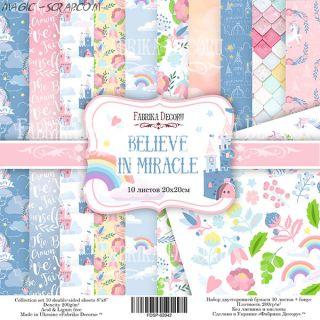 """Набор скрап бумаги """"Believe in miracle"""" 20*20 см FD"""