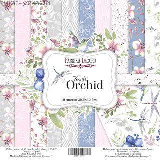 """Набор скрап бумаги """"Tender orchid""""30,5*30,5 см FD"""