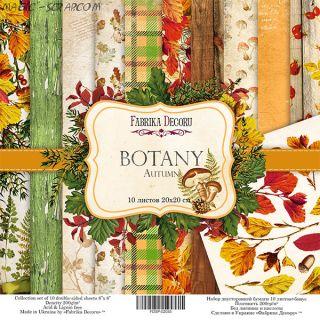 "Набор скрап бумаги ""Botany autumn"" 20*20 см FD"