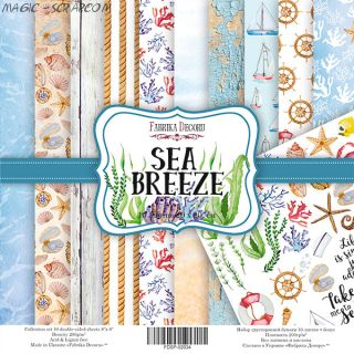 """Набор скрап бумаги """"Sea Breeze"""" 20*20 см FD"""