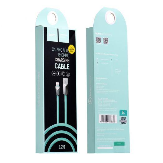 Кабель USB-Lightning Hoco X4 Zinc Alloy rhombus, синий