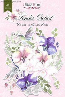 """Набор высечек коллекция """"Tender Orchid""""FD"""