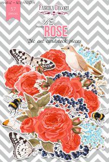 Набор высечек коллекция «Red Rose» FD