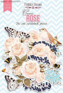 Набор высечек коллекция «Cream Rose» FD