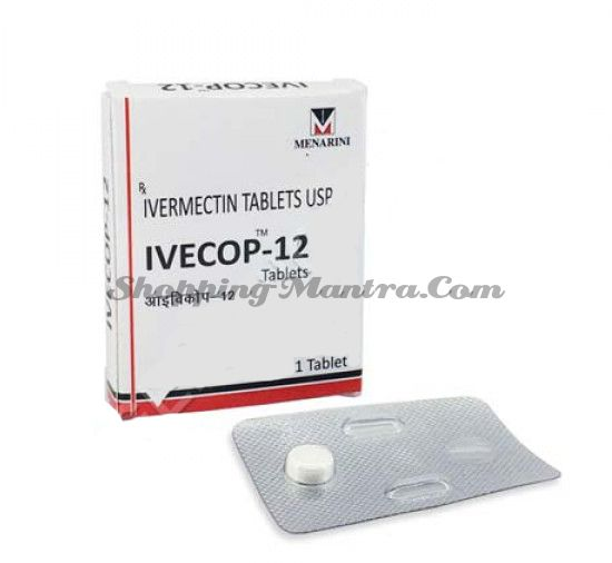 Ивекоп (ивермектин 12мг) антипаразитарный препарат Менарини Индия | Menarini India IVECOP Ivermectin 12mg Tablet