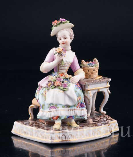 Изображение Девушка с цветами, Дрезден, Германия, 19 в