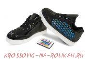 Светящиеся кроссовки UFO Black-Bricks U014-BK