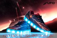 Светящиеся кроссовки UFO black D076-BK