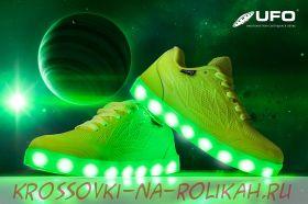 Светящиеся кроссовки UFO green D027-G