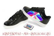 Светящиеся кроссовки UFO Black-Rainbow U012-BK