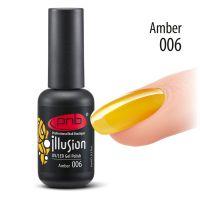 Витражный гель-лак PNB #006 Amber Illusion, 8 мл