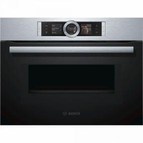 Компактный духовой шкаф с микроволнами Bosch CMG636BS1