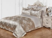 Комплект постельного белья Сатин-жаккард  мережка Умберто евро Арт.1203/3