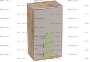 Тумба с дверцей и ящиками Марио (Детская) 60х43х109