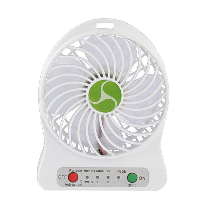 USB-вентилятор Portable Lithium Battery Fan (Цвет: Белый)