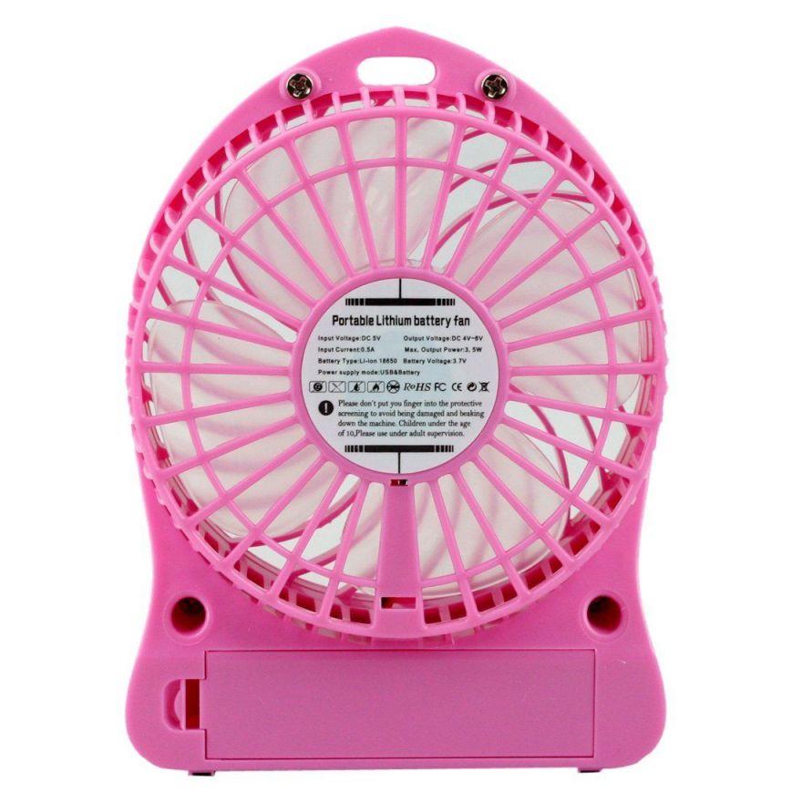 USB-вентилятор Portable Lithium Battery Fan (Цвет: Розовый)