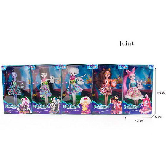 11682A Куклы Энчантималс с питомцами 5 видов Enchantimals