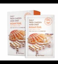 Skin Planet daily fresh garden mask sheet RADIANT PEARL Маска для лица тканевая жемчуг 25гр