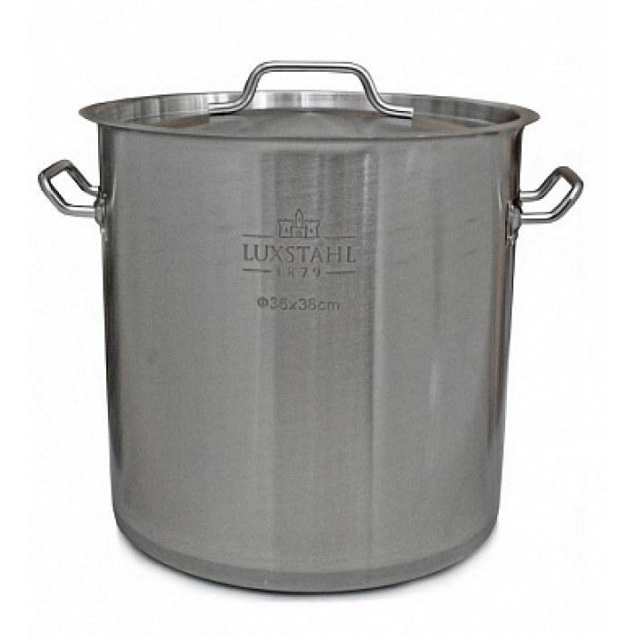 Котел профессиональный Люкссталь с крышкой, 36 литров