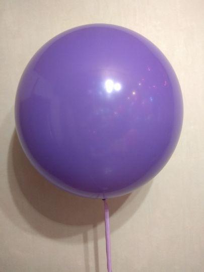 Фиолетовый метровый шар латексный с гелием