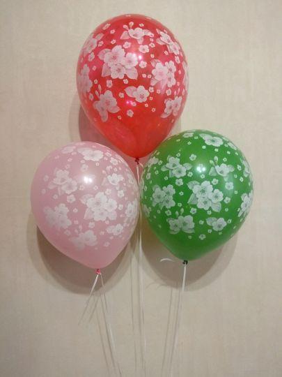Сакура латексные шары с гелием