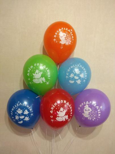 С Прибавлением латексные шары с гелием