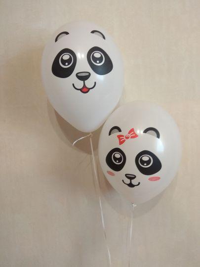 Милые Панды латексные шары с гелием