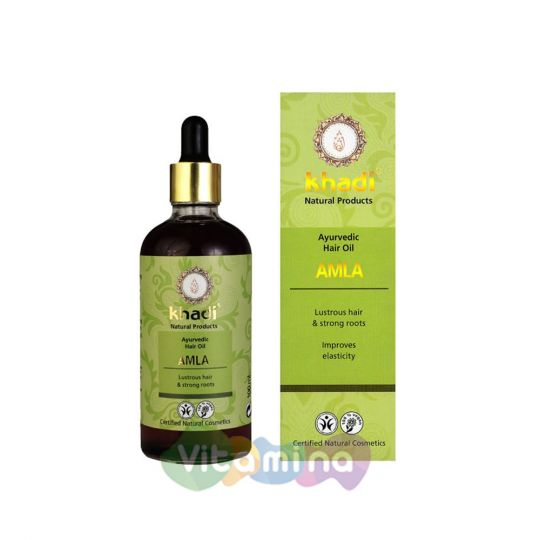 Khadi Травяное масло для волос «Амла», 100 мл