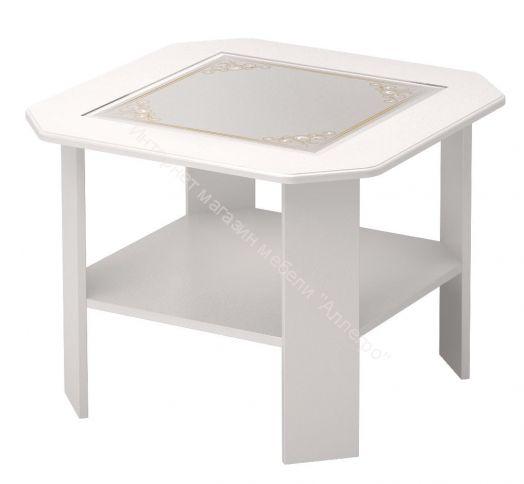 Стол журнальный Виктория Мод №35 Белый глянец