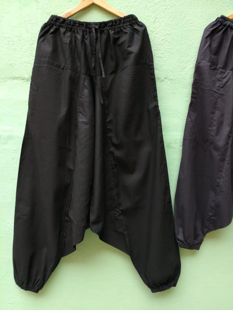 LONG Длинные чёрные штаны алладины на высокий рост (Москва)