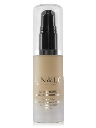 LIN&LO Тональная основа увлажняющая LLFH04 медовый