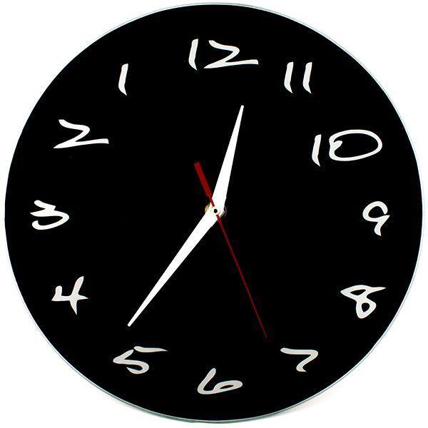 Часы АнтиЧасы Классика черная Стеклянные