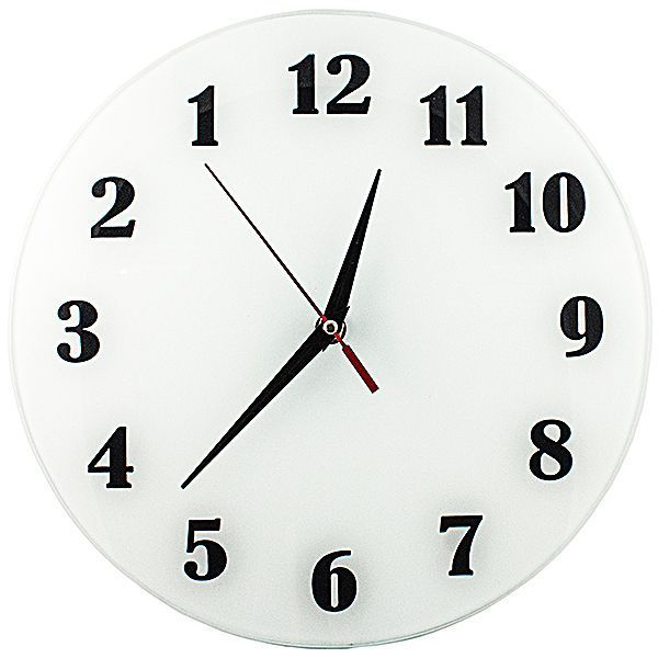Часы АнтиЧасы Классика белая Стеклянные