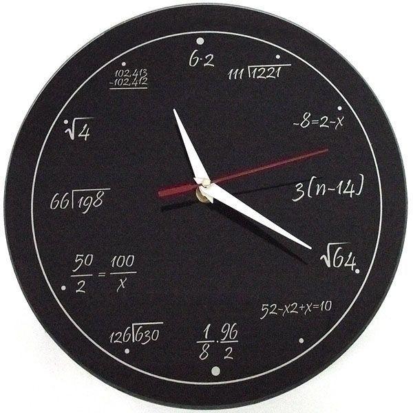Часы Античасы Забавная Математика Стеклянные