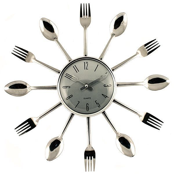 Часы Вилки-ложки пластик