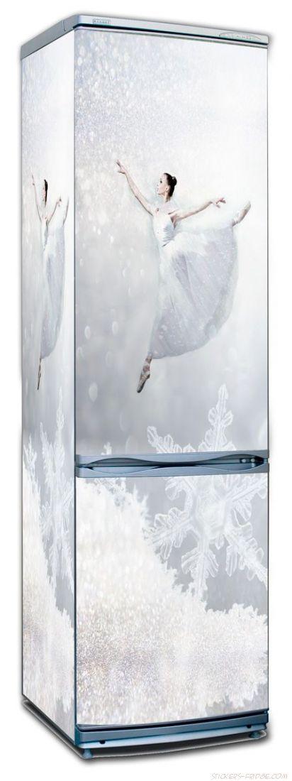 Наклейка на холодильник - Холодно? Попрыгай!