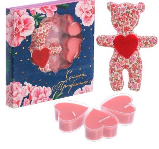 Романтический подарок со свечками