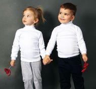 Водолазка детская белая  ( 1-8лет) №КР789