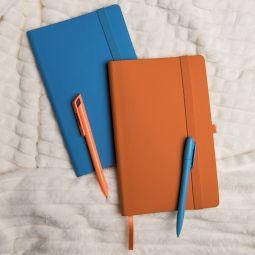оранжевые бизнес-блокноты Gracy с Soft-touch покрытием