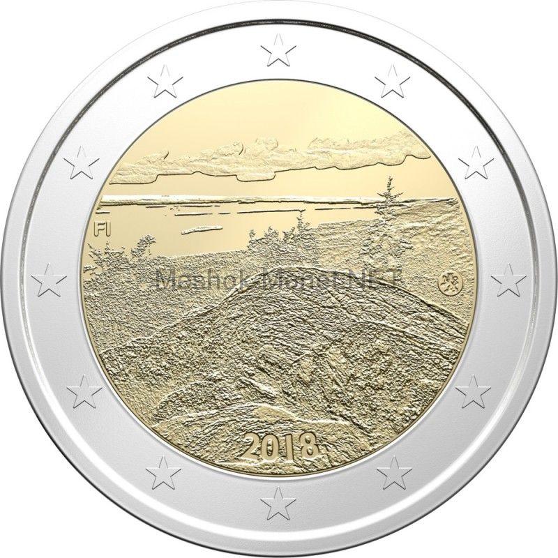 Финляндия, 2 евро 2018, Пейзаж Коли