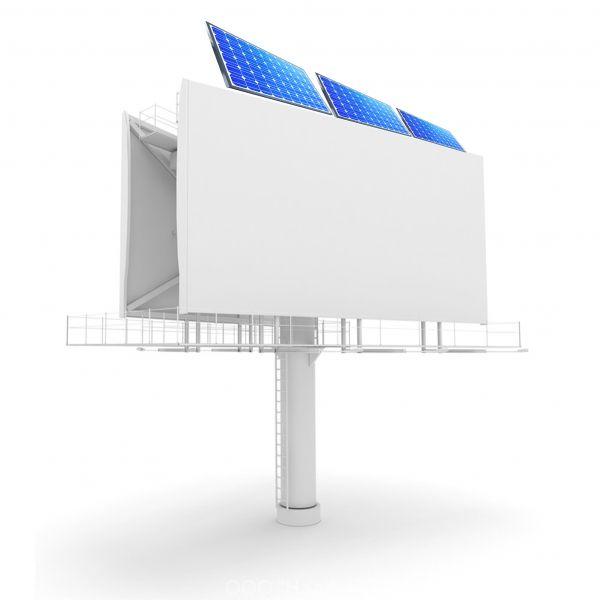 Солнечная электростанция для освещения двустороннего билборда