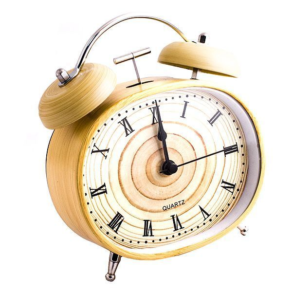 Часы будильник Дерево овал