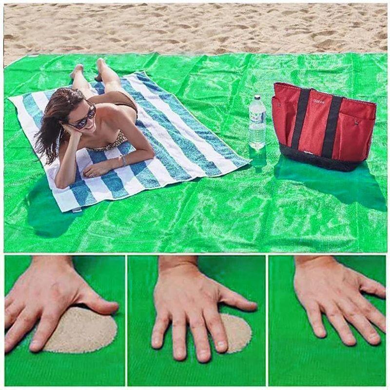 Пляжный Коврик Sand Free Mat антипесок, 200х150 см зеленый