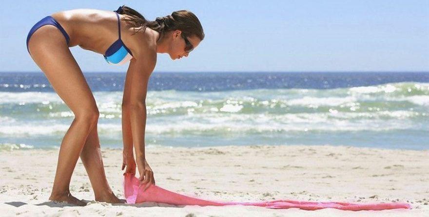 Пляжный Коврик Sand Free Mat антипесок, 200х150 см розовый