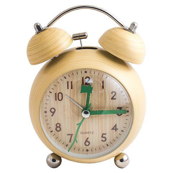 Часы будильник Дерево круглый