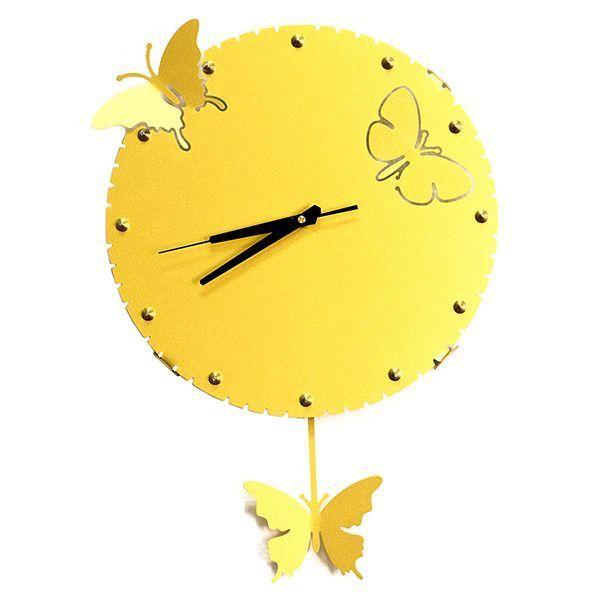 Часы Бабочки металл