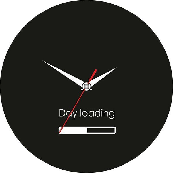 Часы Загрузка Day Loading d=28см стеклянные