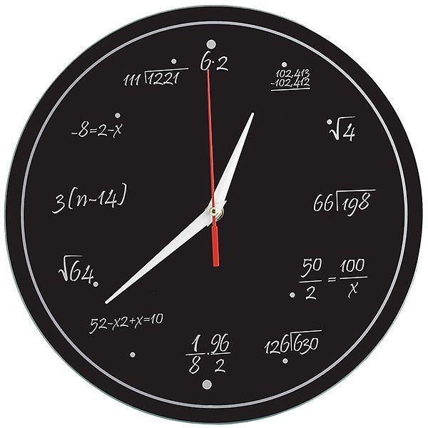Часы Забавная Математика Стеклянные